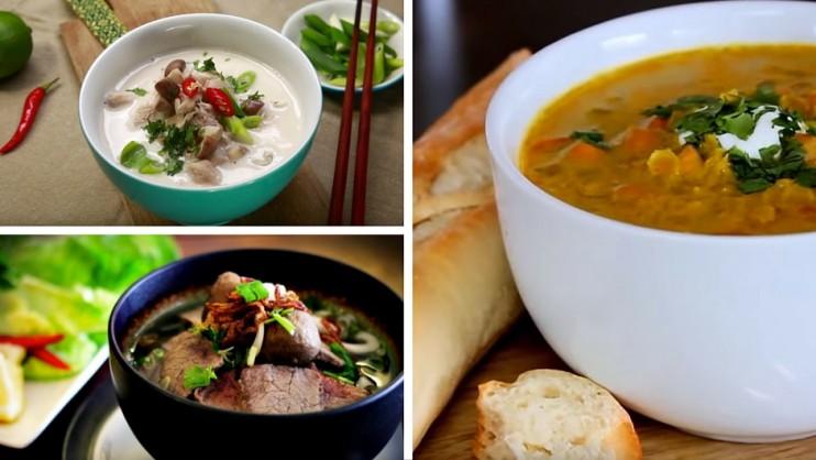 5 délicieuses recettes de soupes en vidéo pour se réchauffer... et voyager cet hiver !