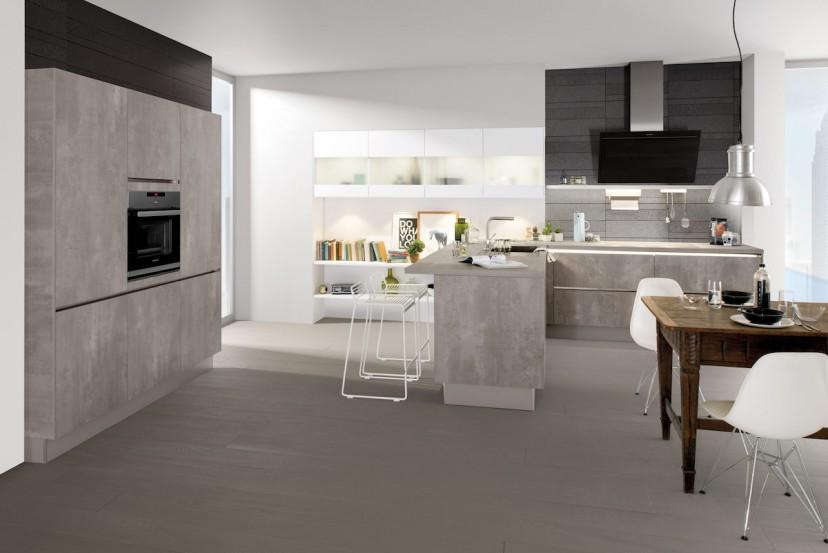 cuisine g 262 gris perle g 238 blanc maxima. Black Bedroom Furniture Sets. Home Design Ideas