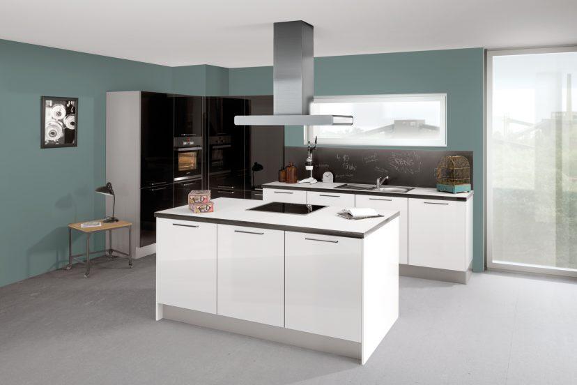cuisine c235 blanc c367 noir maxima. Black Bedroom Furniture Sets. Home Design Ideas